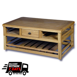 Manhattan Oak 1000mm Box Coffee Table