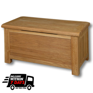 Manhattan Oak Ottoman Box