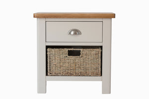 Stratford Painted 1 Drawer 1 Basket Unit