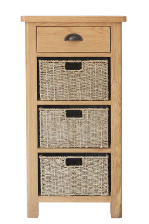 Stratford Traditional 1 Drawer 3 Basket Unit
