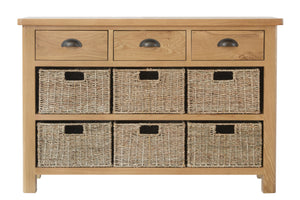Stratford Traditional 3 Drawer 6 Basket Unit