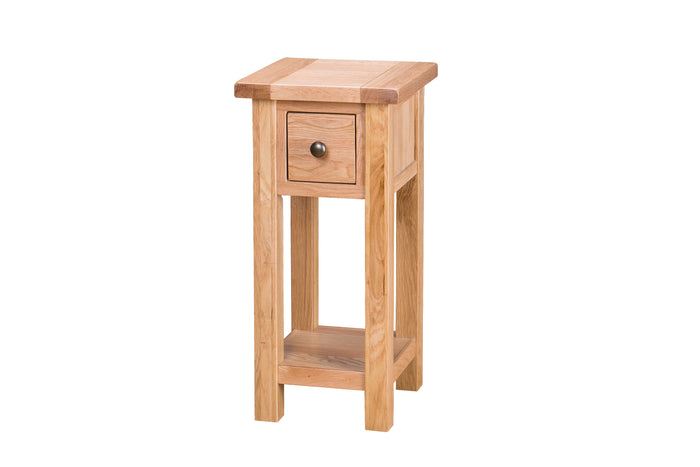 Vancouver Select Tall Side Table with Drawer and Shelf