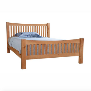 Bicester Oak High Foot End Bed | A Touch of Furniture Oxfordshire