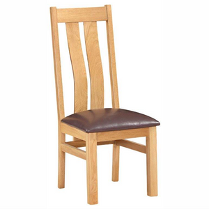 Bicester Oak Twin Slat Chair | A Touch of Furniture Oxfordshire