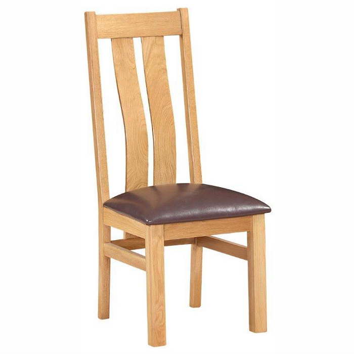 Bicester Oak Twin Slat Chair