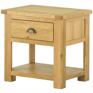 Cherwell Oak Lamp Table With 1 Drawer