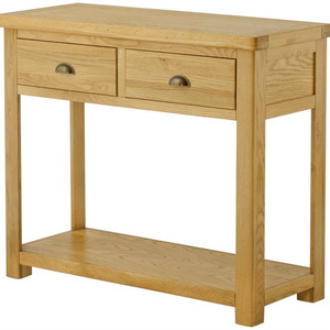 Cherwell Oak 2 Drawer Console Table