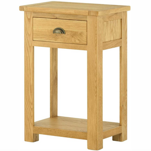 Cherwell Oak 1 Drawer Console Table | A Touch of Furniture Oxfordshire