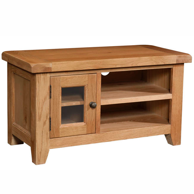 Somerset Oak Small TV Unit