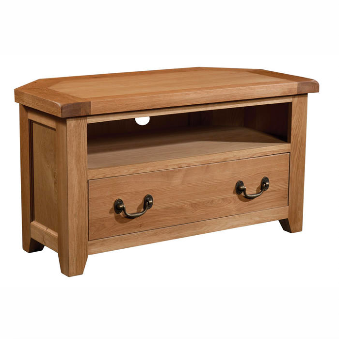 Somerset Oak Corner TV Unit