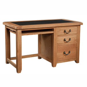 Somerset Oak Office Desk UKFR PU Top