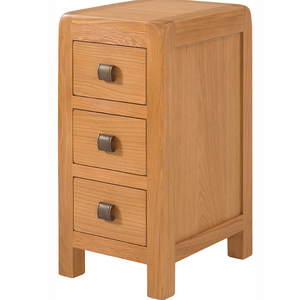 Avon Oak 3 Drawer Compact Bedside | A Touch of Furniture Oxfordshire