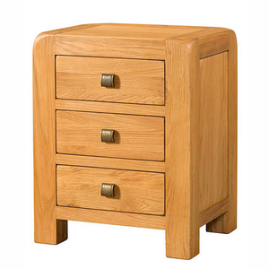 Avon Oak 3 Drawer Bedside