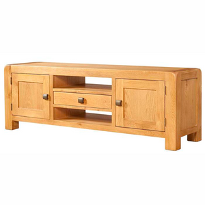 Avon Oak Wide Oak TV Cabinet | A Touch of Furniture Banbury & Bicester