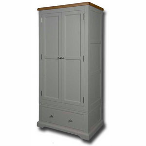 Oxford Painted 2 Door 1 Drawer Single Wardrobe