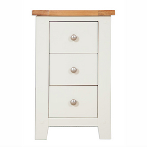 Melbourne Painted 3 Drawer Bedside Cabinet