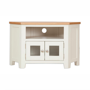 Melbourne Painted Glazed Corner TV Cabinet | A Touch of Furniture Banbury and Bicester