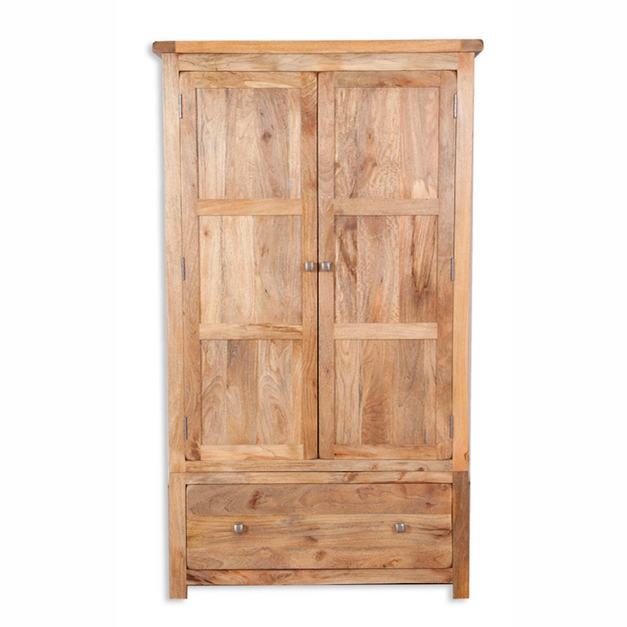 Mango Light 2 Door 1 Drawer Wardrobe
