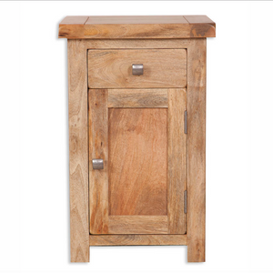 Mango Light 1 Drawer Door Bedside Cabinet