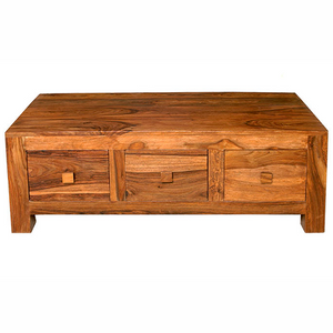 Mango Light 3 Drawer Coffee Table