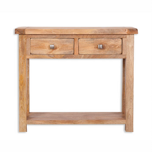 Mango Light 2 Drawer Console Table
