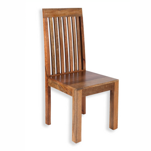 Mango Light Solid Seat Dining Chair