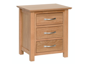 Hearts of Oak 3 Drawer Bedside
