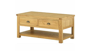 Cherwell Oak Coffee Table with Drawers | A Touch of Furniture Oxfordshire