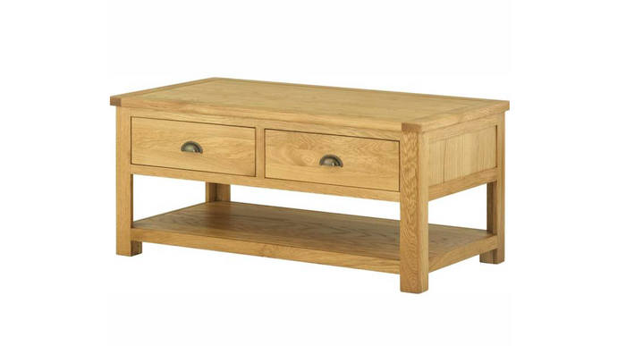 Cherwell Oak Coffee Table With Drawers