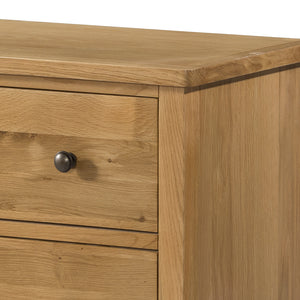 Burford Oak Sideboard with 2 Doors and 2 Drawers