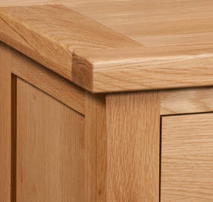 Bicester Oak 2 Drawer Console Table | A Touch of Furniture Oxfordshire