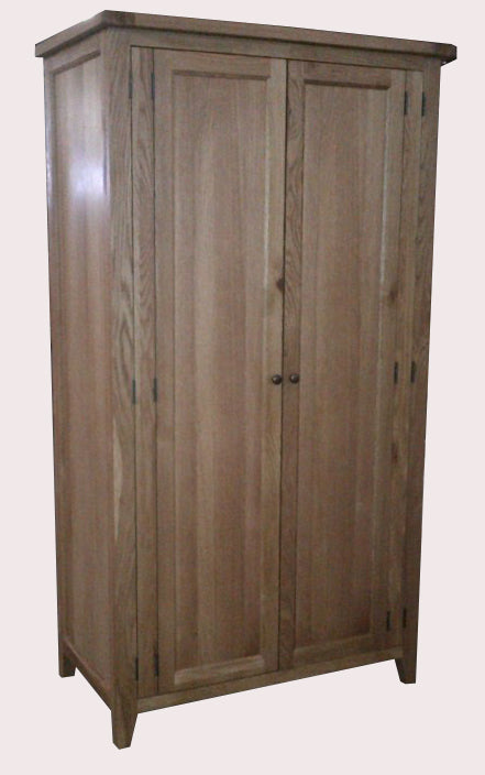 Vancouver Premium Oak 2 Door Wardrobe with Panelled Front
