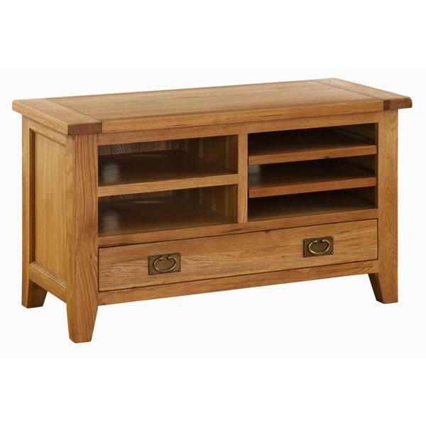 Vancouver Premium Oak TV Cabinet with Drawer