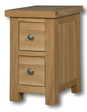 Woodstock Oak 2 Drawer Compact Bedside