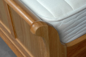 Woodstock Oak Sleigh Bed