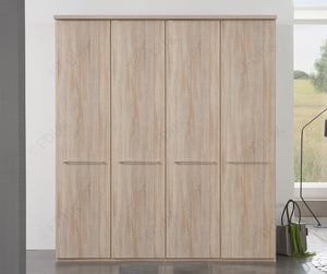 Wiemann Dakar 2 Wardrobe with Cornice and Wooden Doors | A Touch of Furniture