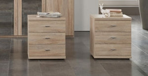 3-drawer bedside table from our Wiemann Dakar 2 furniture collection | A Touch of Furniture Banbury and Bicester