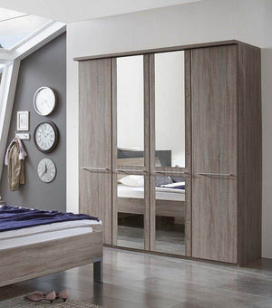 Wiemann Dakar 2 Wardrobe with Cornice and Mirrored Doors | A Touch of Furniture Banbury and Bicester