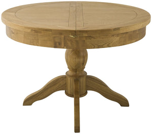 Cherwell Oak Round Butterfly Extending Table | A Touch of Furniture Oxfordshire
