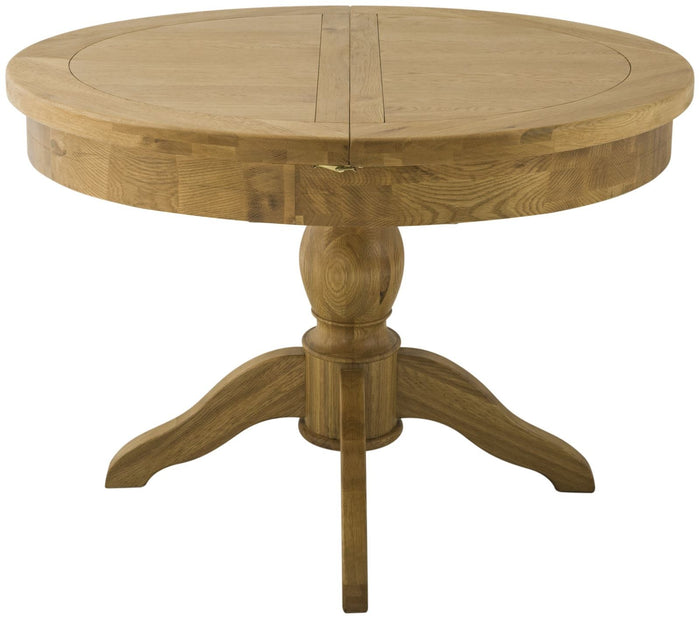 Cherwell Oak Round Butterfly Extending Table