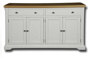 Oxford Painted 2 Drawer 4 Door Large Sideboard