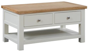Bicester Painted Coffee Table with 2 Drawers | A Touch of Furniture