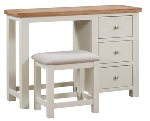 Bicester Painted Single Pedestal Dressing Table + Stool