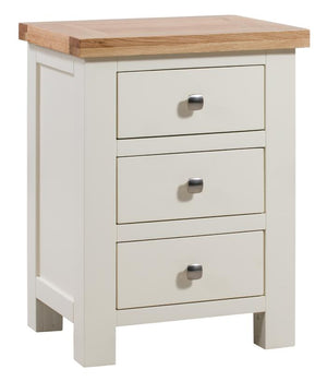 Bicester Painted 3 Drawer Bedside
