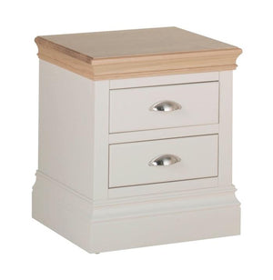 Lundy Pine Painted 2 Drawer Bedside