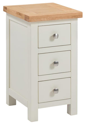 Bicester Painted 3 Drawer Compact Bedside