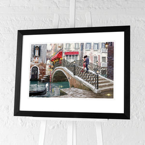 Venice Bridge by Richard Mcneil | Framed Print