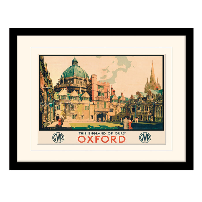Oxford Courtyard by Claude Buckle | Framed Print