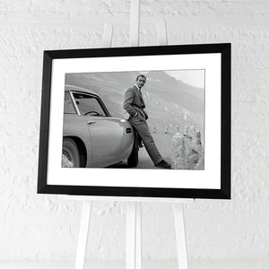 James Bond and the Aston Martin | Framed Print