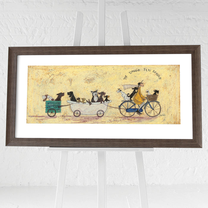 The Doggie Taxi Service by Sam Toft | Framed Print